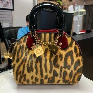 Dior Leopard Gambler Bag